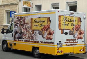 Vertkausmobil der Bäckerei Jesse aus Münchenbernsdorf